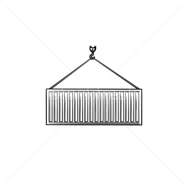 Cargo container hand drawn outline doodle icon. Stock photo © RAStudio