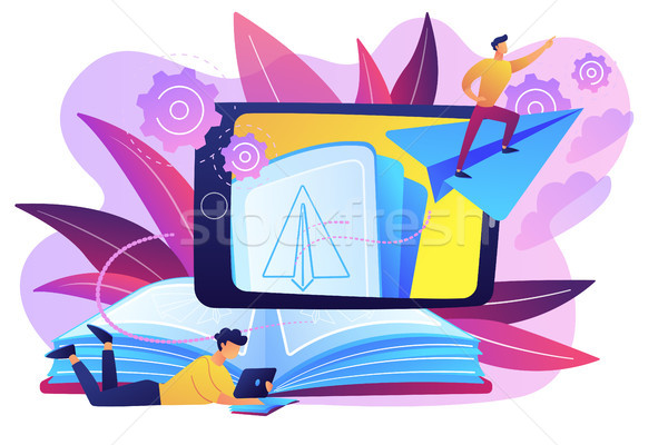 Augmented reality books concept vector illustration. Stock photo © RAStudio