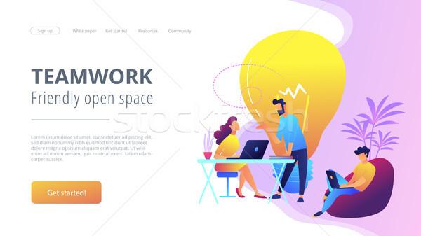 Coworking concept vector illustration. Stock photo © RAStudio