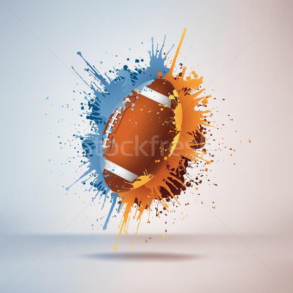 Fussball Ball Malen Orange Farbe Weiss Vektor