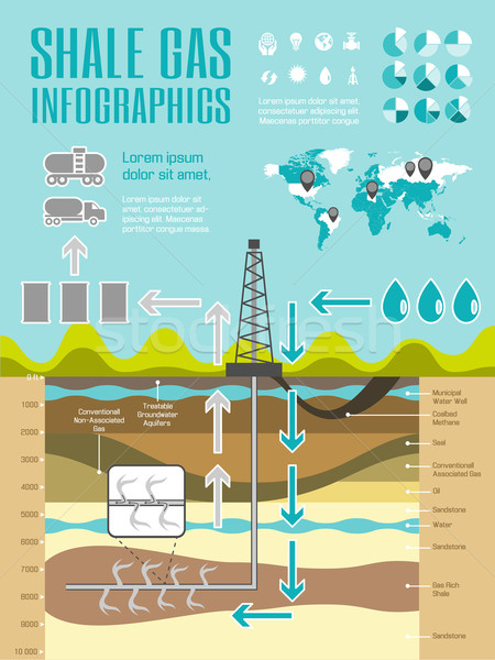 Shale Gas Infographic Template Stock photo © RAStudio