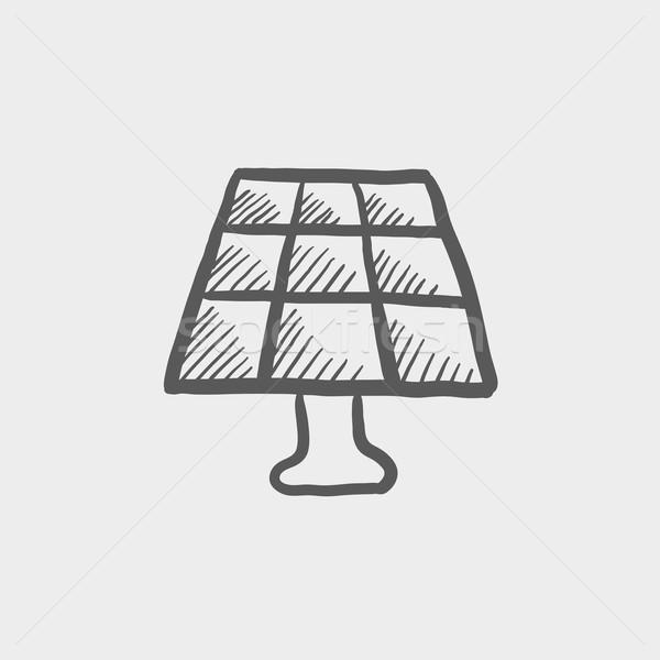 Lamp sketch icon Stock photo © RAStudio