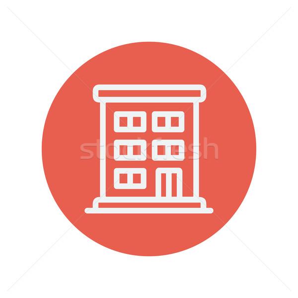 Residential building thin line icon Stock photo © RAStudio