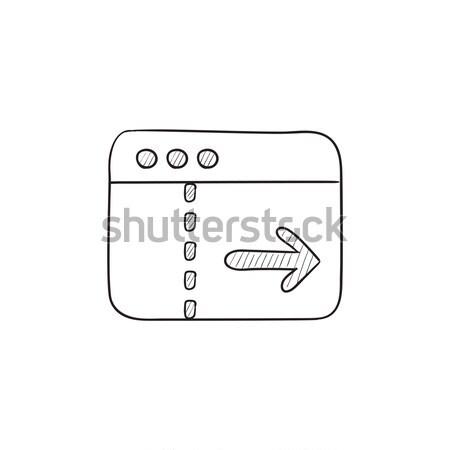 Negativos delgado línea icono web móviles Foto stock © RAStudio