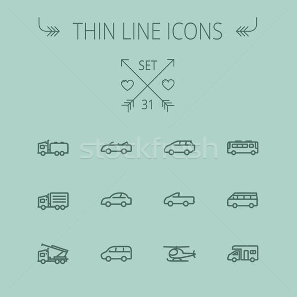 Zdjęcia stock: Transport · cienki · line · internetowych · komórkowych