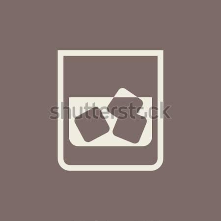 Vidrio agua hielo icono tiza Foto stock © RAStudio
