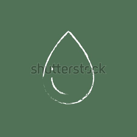 Water drop icon drawn in chalk. Stock photo © RAStudio