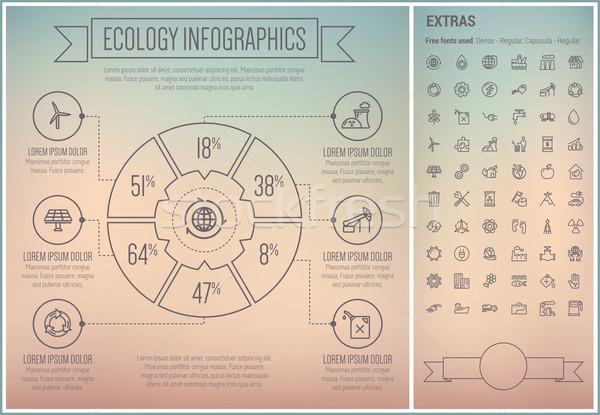 Сток-фото: экология · линия · дизайна · шаблон · Элементы