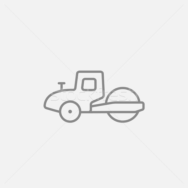 Road roller line icon. Stock photo © RAStudio