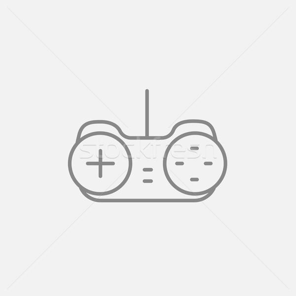 Joystick linha ícone teia móvel infográficos Foto stock © RAStudio