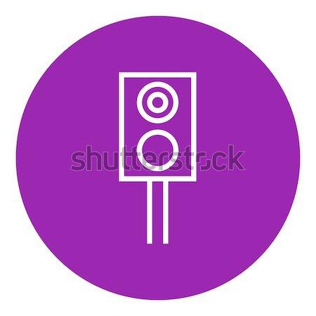 鉄道 信号 行 アイコン ウェブ 携帯 ストックフォト © RAStudio