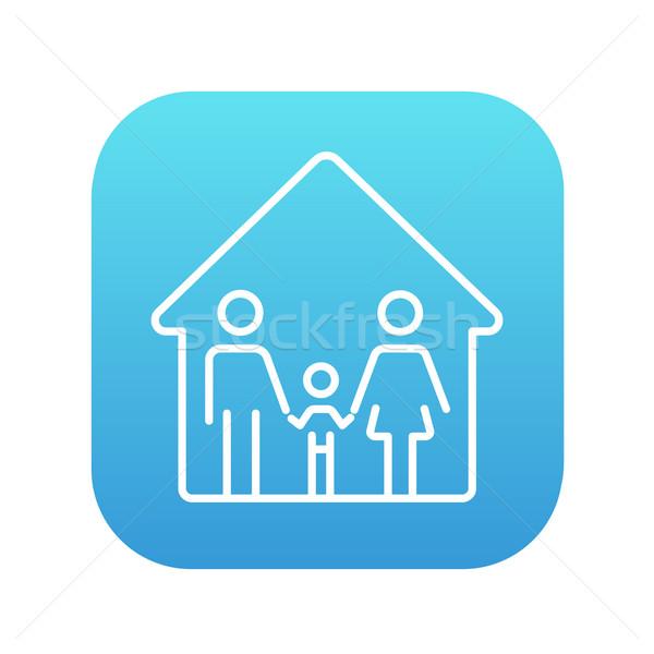 Stock photo: Family house line icon.