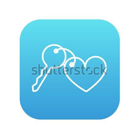Gingillo tasti cuore line icona web Foto d'archivio © RAStudio