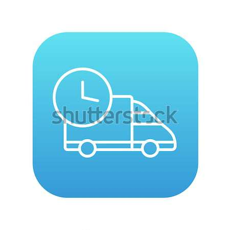 Delivery truck line icon. Stock photo © RAStudio