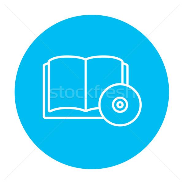 Płyta cd dysku line ikona internetowych komórkowych Zdjęcia stock © RAStudio