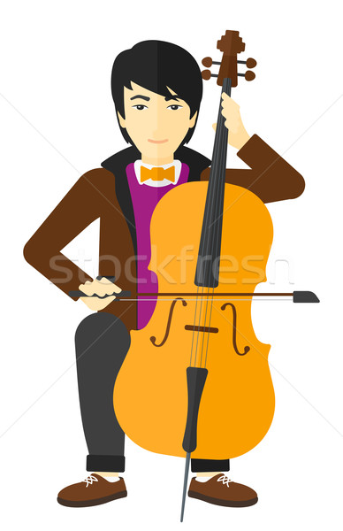 Man playing cello. Stock photo © RAStudio