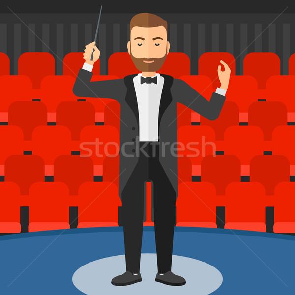 Man baard concert hal Stockfoto © RAStudio