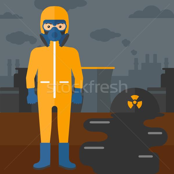 Man in protective chemical suit. Stock photo © RAStudio