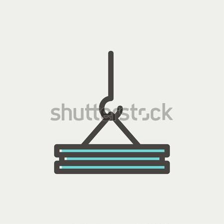 Grúa gancho línea icono concretas Foto stock © RAStudio