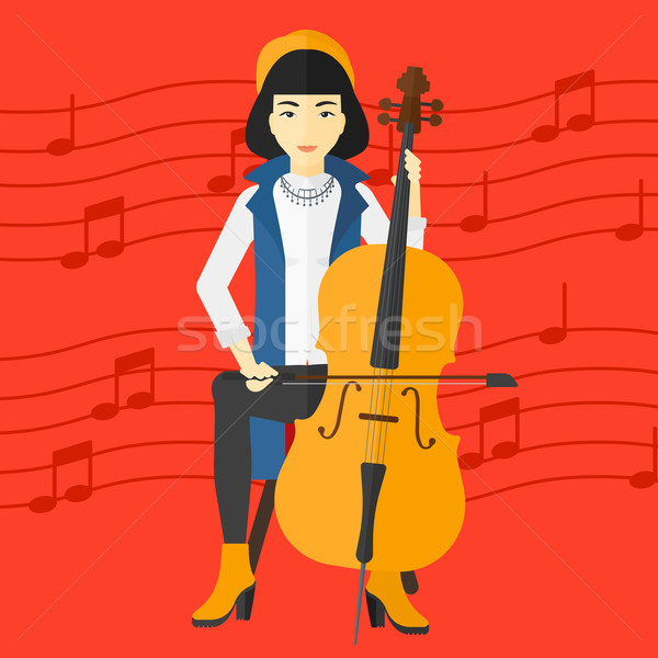 Woman playing cello. Stock photo © RAStudio