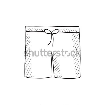 Swimming trunks. Drawn in chalk icon. Stock photo © RAStudio