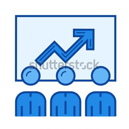 Business growth line icon. Stock photo © RAStudio