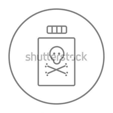 Stock photo: Bottle of poison line icon.