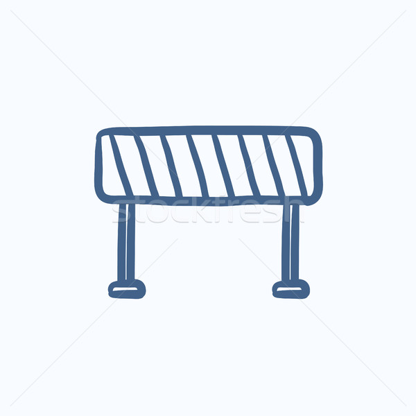 Road barrier sketch icon. Stock photo © RAStudio