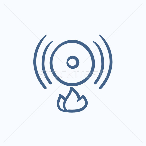 Fire alarm sketch icon. Stock photo © RAStudio