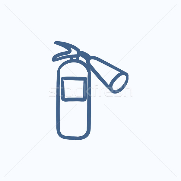 Fire extinguisher sketch icon. Stock photo © RAStudio