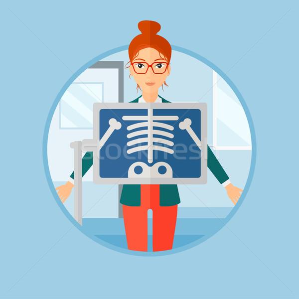 Pacjenta rentgenowskiego procedura piersi badanie pokój Zdjęcia stock © RAStudio