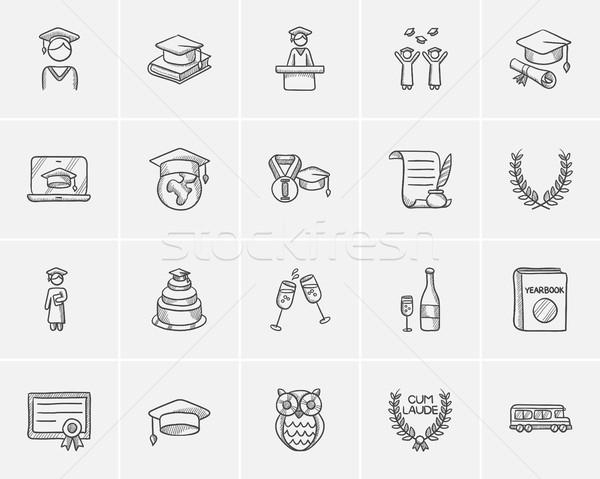Onderwijs schets web mobiele infographics Stockfoto © RAStudio