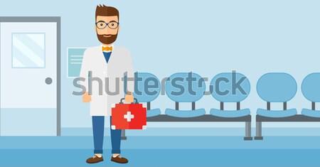 Doctor with file vector illustration. Stock photo © RAStudio