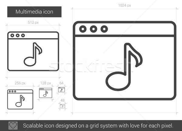 Multimedia line icon. Stock photo © RAStudio