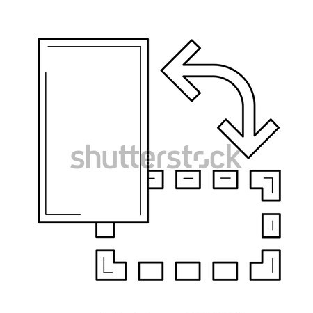 オブジェクト 回転させる 行 アイコン ベクトル 孤立した ストックフォト © RAStudio