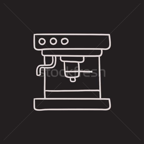 Coffee maker sketch icon. Stock photo © RAStudio