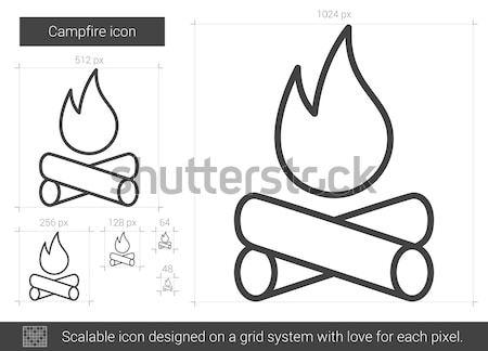 Campfire sketch icon. Stock photo © RAStudio