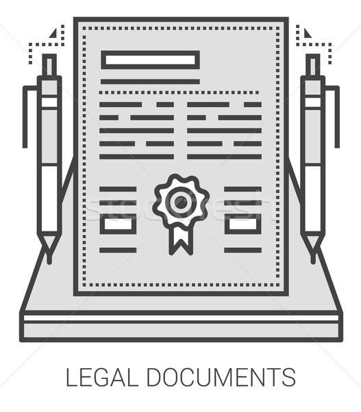 Yasal belgeler hat simgeler mecaz Stok fotoğraf © RAStudio