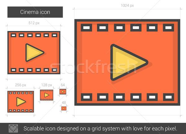 Cinema line icon. Stock photo © RAStudio