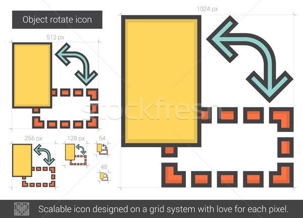 Tárgy forgat vonal ikon vektor izolált Stock fotó © RAStudio