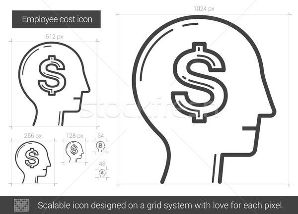 Employee cost line icon. Stock photo © RAStudio