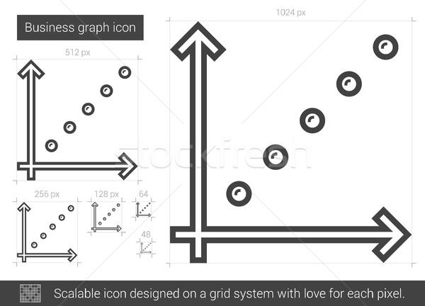 üzleti grafikon vonal ikon vektor izolált fehér Stock fotó © RAStudio