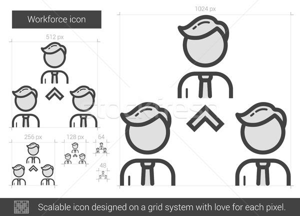 Workforce line icon. Stock photo © RAStudio