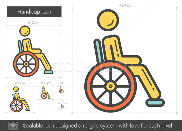 Handicap line icon. Stock photo © RAStudio