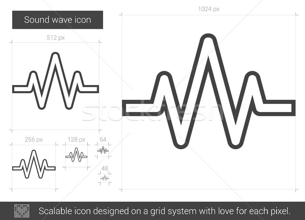 Sound wave line icon. Stock photo © RAStudio