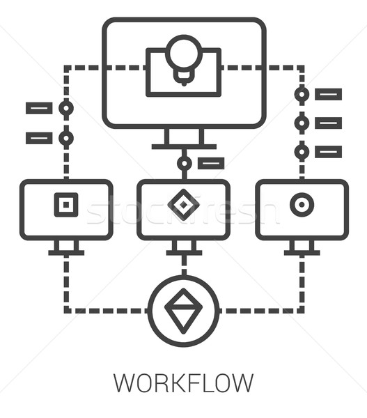 Workflow line infographic. Stock photo © RAStudio