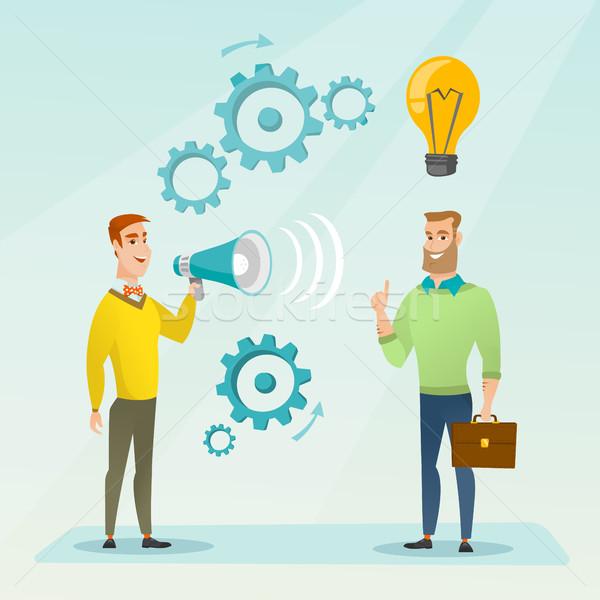 объявление бизнеса Идея бизнесмен мегафон Сток-фото © RAStudio