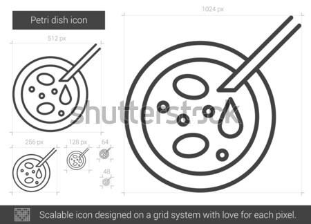 Petri dish line icon. Stock photo © RAStudio