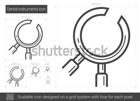 Dental instruments line icon. Stock photo © RAStudio