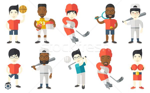 Vetor conjunto esportes jogador Foto stock © RAStudio